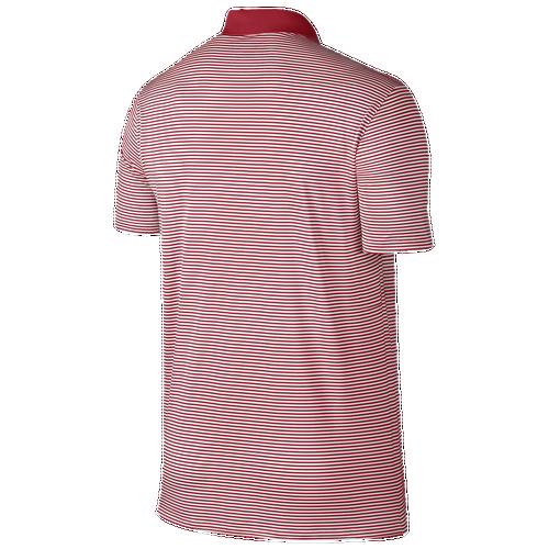 Nike Victory Mini Stripe Polo - Men's Golf - University Red/White/White 25520657
