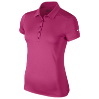 Nike Victory Solid Polo - Women's Golf - Vivid Pink/White 25582616