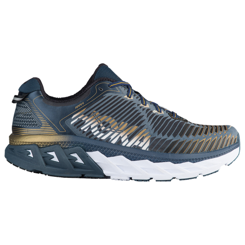 HOKA ONE ONE Arahi - Men's Running Shoes - Midnight Navy/Metallic Gold 258MNMG
