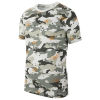 Nike Dri-FIT Cotton AOP T-Shirt - Men's - Off-White / Grey