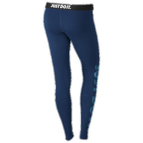 80%OFF Nike Leg A See Logo Leggings Womens Casual Clothing Binary Blue ·