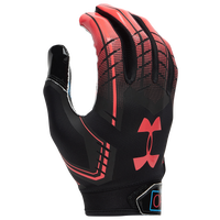 Under Armour F6 Receiver Gloves - Men's - Black / Pink