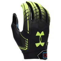 Under Armour F6 Receiver Gloves - Men's - Black / Yellow