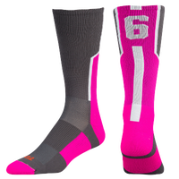 Twin City Player ID Custom Number Crew Socks - Men's - Grey / Pink
