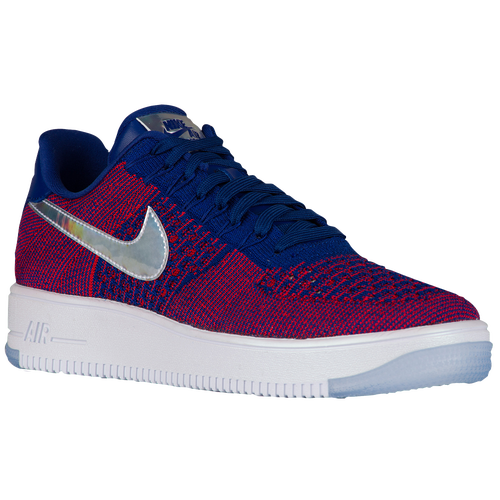 Nike Air Force 1 Ultra Flyknit Low - Men's - Casual - Shoes - Gym Red/Deep  Royal Blue/White