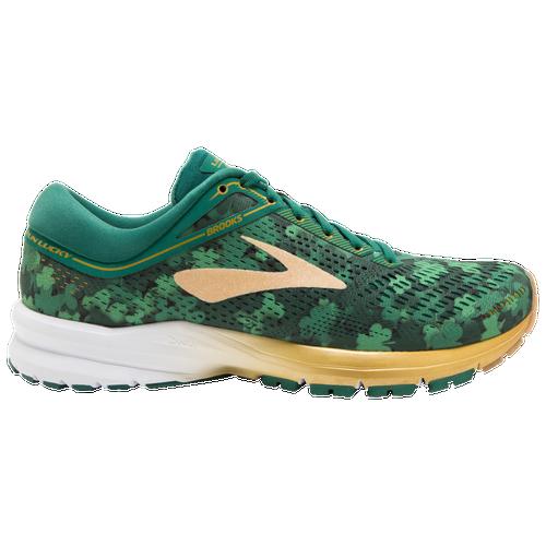 Brooks Launch 5 - Women's Running Shoes - Green/Gold/White 2661B309