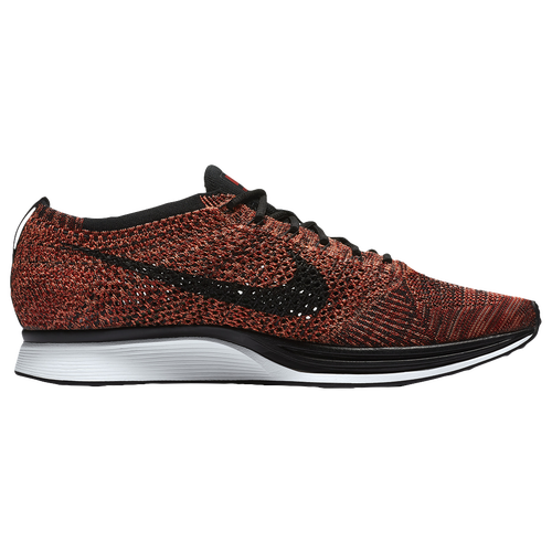 Nike Flyknit Racer - Men's - Running - Shoes - University Red/Black/Bright  Mango