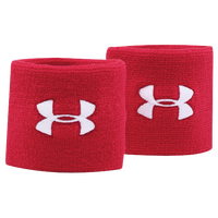 "Under Armour 3"" Performance Wristbands - Red / White"