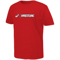 ASICS® Wrestling T-Shirt - Men's - Red / White