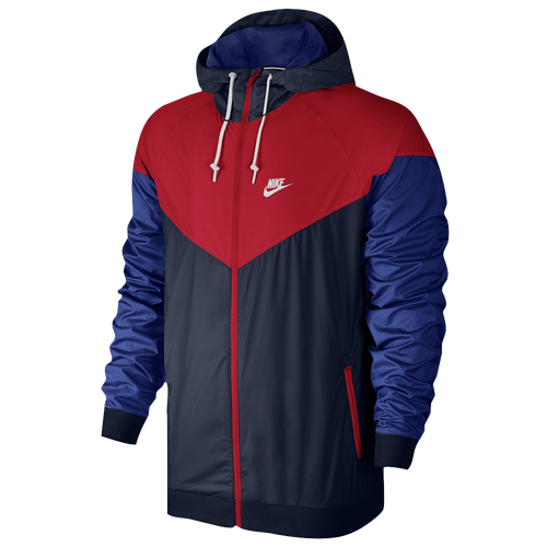 Nike Windrunner Jacket - Men's Casual - Obsidian/University Red/Deep Royal Blue/White 27324452