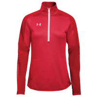 Under Armour Team Qualifier Hybrid 1/2 Zip - Women's - Red