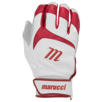 Marucci Signature Batting Gloves - Men's - White / Red