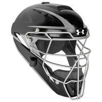 Under Armour Converge Catcher's Head Gear - Adult - Black / Silver