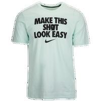 Nike Dri-FIT Look Easy T-Shirt - Men's - Light Green / Black