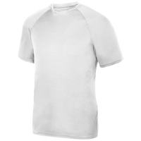 Augusta Sportswear Team Attain Wicking T-Shirt - Boys' Grade School - All White / White