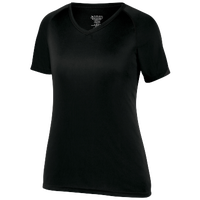 Augusta Sportswear Team Attain Wicking T-Shirt - Women's - All Black / Black