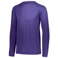 Augusta Sportswear Team Attain Wicking Long Sleeve T-shirt - Men's - Purple