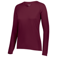 Augusta Sportswear Team Attain Wicking Long Sleeve T-shirt - Women's - Maroon