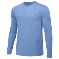 Nike Team Legend Long Sleeve Poly Top - Men's - Light Blue / Light Blue