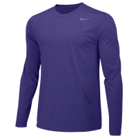 Nike Team Legend Long Sleeve Poly Top - Men's - Purple / Purple