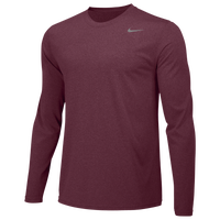Nike Team Legend Long Sleeve Poly Top - Men's - Maroon / Maroon
