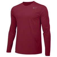 Nike Team Legend Long Sleeve Poly Top - Men's - Red / Red