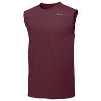 Nike Team Legend Sleeveless Poly Top - Men's - Maroon / Maroon