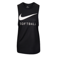 Nike Softball Swoosh Muscle Tank - Women's - Black / White