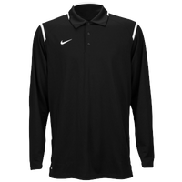Nike Team Gameday Polo L/S - Men's - Black / White