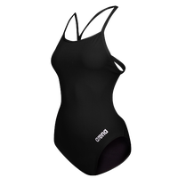 Arena Master Thin Strap Open Racerback Swimsuit - Women's - Black / Silver