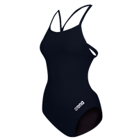 Arena Master Thin Strap Open Racerback Swimsuit - Women's - Navy / Silver