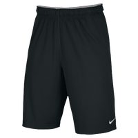 Nike Team Fly Shorts - Men's - All Black / Black