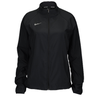 Nike Team Woven Running Jacket - Women's - All Black / Black