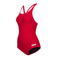 Arena Madison Thick Strap Racerback Swimsuit - Women's - Red / Silver