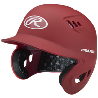 Rawlings Coolflo Matte Batting Helmet - Men's - Red / White