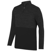 Augusta Sportswear Team Heather 1/4 Zip Pullover - Men's - All Black / Black