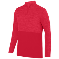 Augusta Sportswear Team Heather 1/4 Zip Pullover - Men's - Red / Red