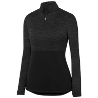 Augusta Sportswear Team Heather 1/4 Zip Pullover - Women's - All Black / Black
