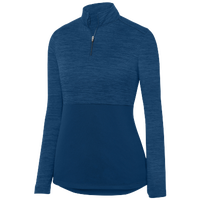 Augusta Sportswear Team Heather 1/4 Zip Pullover - Women's - Navy / Navy