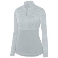 Augusta Sportswear Team Heather 1/4 Zip Pullover - Women's - Silver / Silver