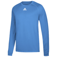 adidas Team Climalite Long Sleeve T-Shirt - Men's - Light Blue / Light Blue
