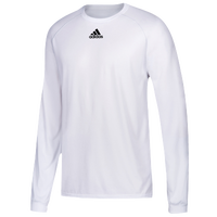 adidas Team Climalite Long Sleeve T-Shirt - Men's - All White / White