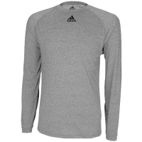 adidas Team Climalite Long Sleeve T-Shirt - Men's - Grey / Grey