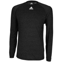adidas Team Climalite Long Sleeve T-Shirt - Men's - All Black / Black