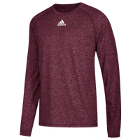 adidas Team Climalite Long Sleeve T-Shirt - Men's - Maroon