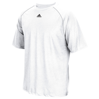 adidas Team Climalite Short Sleeve T-Shirt - Men's - All White / White