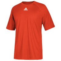 adidas Team Climalite Short Sleeve T-Shirt - Men's - Orange / Orange