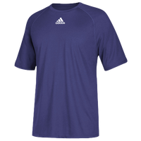 adidas Team Climalite Short Sleeve T-Shirt - Men's - Purple / Purple