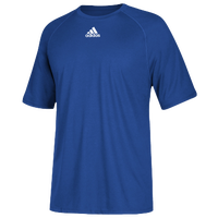 adidas Team Climalite Short Sleeve T-Shirt - Men's - Blue / Blue