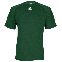 adidas Team Climalite Short Sleeve T-Shirt - Men's - Dark Green / Dark Green
